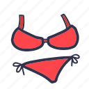 beach, bikini, sea, summer, swim suit, swimsuit, travel icon
