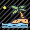 beach, coconut, island, paradise, summer, tree, vacation icon