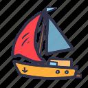 boat, travel, summer, transport, ship, sail, transportation