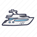 boat, holiday, sail, summer, transport, travel, yacth icon