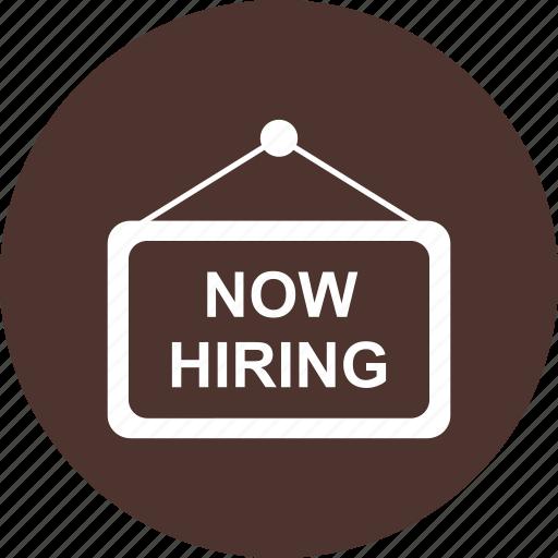 apply, hanging, hiring, now icon