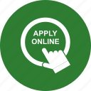 apply, click, job, online icon