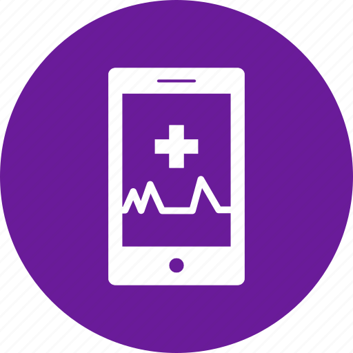 Medical, online, phone, pulse, report icon - Download on Iconfinder