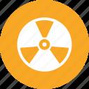 danger, radiation, sign