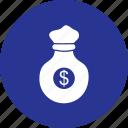 bag, cash, coin, dollar, money, rich, sack