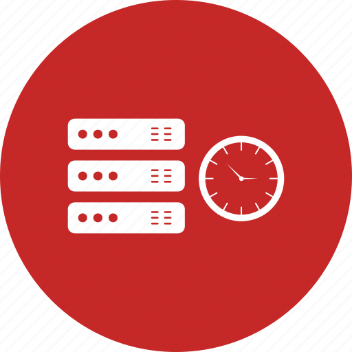 cloud, server, time icon