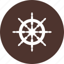 ship, transport, transportation, wheel icon