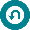 direction, signtransport, uturn icon