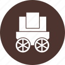 transport, transportation, travel, wagon icon