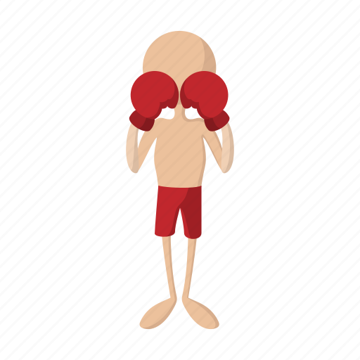 Boxing, punch, competition, fight, glove, sport, cartoon icon