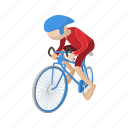 athlete, bicycle, bike, biker, cartoon, sport icon