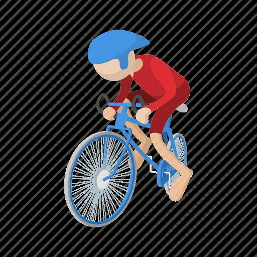 athlete, bicycle, bike, biker, cartoon, sport icon