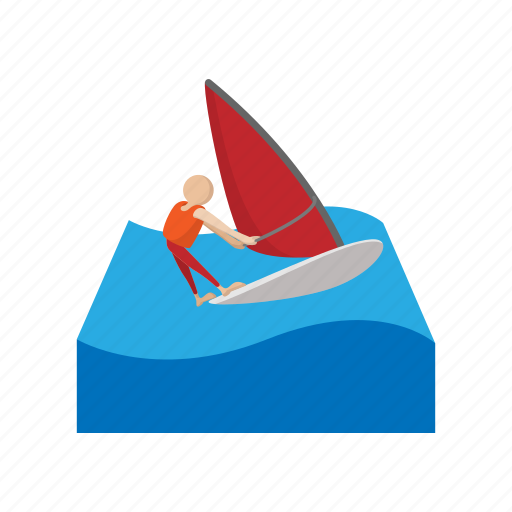 catroon, nautical, sea, sport, travel, vacation, water icon