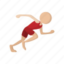 athlete, athletic, cartoon, run, runner, sport, training icon