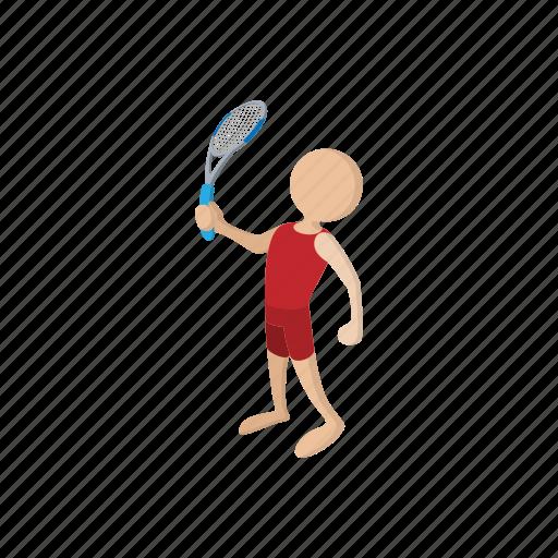 cartoon, game, leisure, player, racket, sport, tennis icon