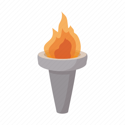 cartoon, competition, fire, flame, sport, victory, winner icon