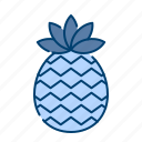 fresh, fruit, pineapple, summer, sweet, tropical icon