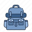 backpack, bag, camping, summer, tourist, travel, vacation icon