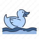 bird, duck, summer, toy icon