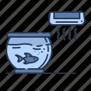 ac, aquarium, bowl, fish, pet, summer icon
