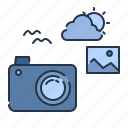 camera, image, lens, photograph, stock, summer icon