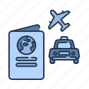 passport, summer, transportation, travel, vacation icon