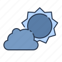 cloud, hot, rise, summer, sun icon