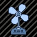 air, electric, fan, fresh, hot, summer, wind icon