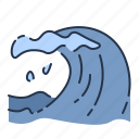 beach, danger, summer, vacation, water, wave icon