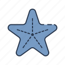 beach, fish, sea, star, starfish, summer icon