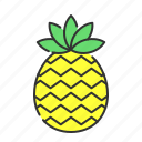 fruit, pineapple, summer, sweet, tropical icon