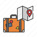bag, gps, summer, tourist, travel, vacation icon