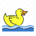 bath, duck, summer, toy icon