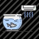 ac, aquarium, bowl, cold, fish, pet, summer icon