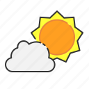 cloud, summer, sun icon