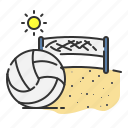 ball, beach, sport, summer, volley icon