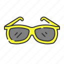 eye, glasess, summer, sun glass icon