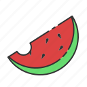 fresh, fruit, summer, sweet, tropical, watermelon icon