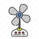 air, fan, hot, summer, wind icon