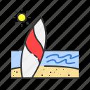 beach, sea, sport, summer, surf, surfer icon