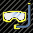 beach, dive, diving, scuba, snorkling, summer icon