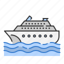 boat, ship, summer, transportation, travel, vacation, yatch icon