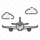 fly, flying, plane, summer, transportation, travel, vacation icon