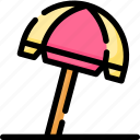 beach, holiday, relaxation, summer, tourism, umbrella, vacation icon