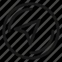 arrow, compass, navigation icon