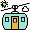 aerial lift, cable car, lift, summer, transport icon
