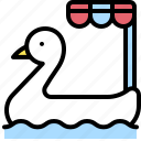 duck, pedal boat, summer, transport, vehicle