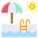pool, summer, sun, swim pool, swimming