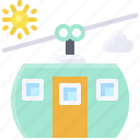 aerial lift, cable car, lift, summer icon