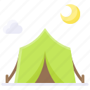 camp, camping, nature, summer, tent icon